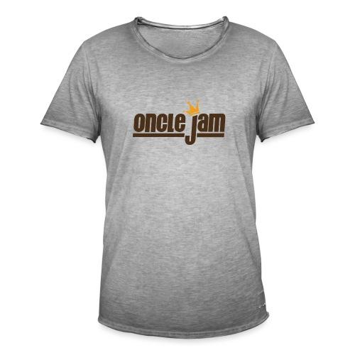 Oncle Jam horizontal brun - T-shirt vintage Homme