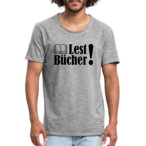 Lest Bücher ! 2 - Männer Vintage T-Shirt