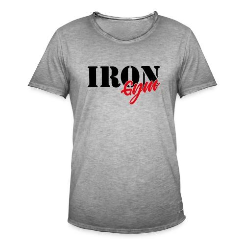 iron gym logo black - Camiseta vintage hombre