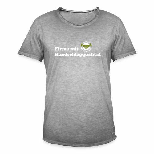 Handschlagqualität Text weiss - Männer Vintage T-Shirt