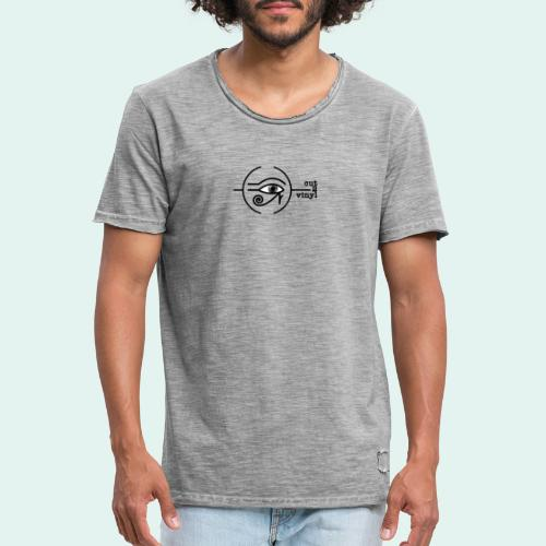 Cut2Vinyl with text - Men's Vintage T-Shirt