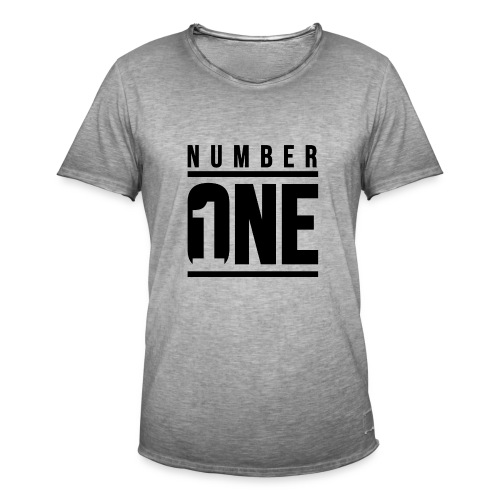 Number ONE - Camiseta vintage hombre