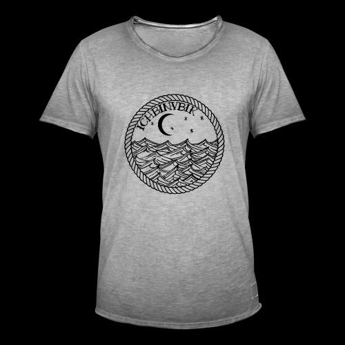 IBV Die Lichter das Meer black - Männer Vintage T-Shirt