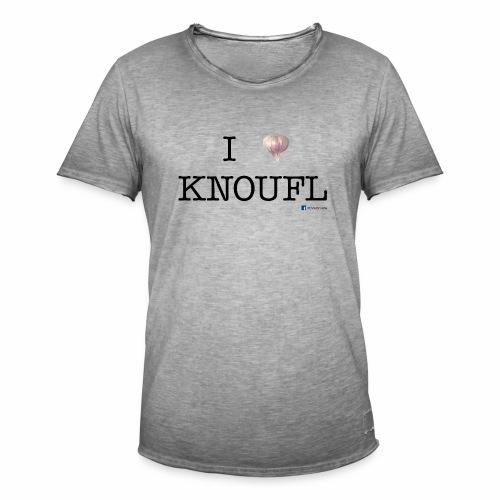 i love knoufl black - Männer Vintage T-Shirt