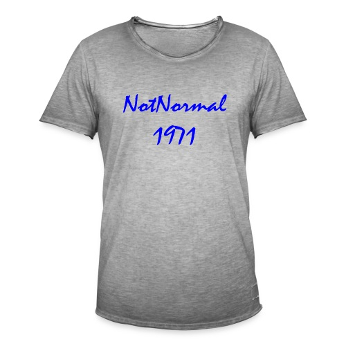 3000x1478 bla - Vintage-T-skjorte for menn