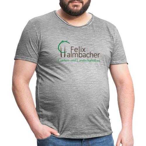 Halmbacher Logo - Männer Vintage T-Shirt