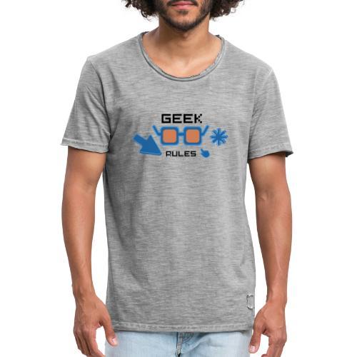 geek rules - Camiseta vintage hombre