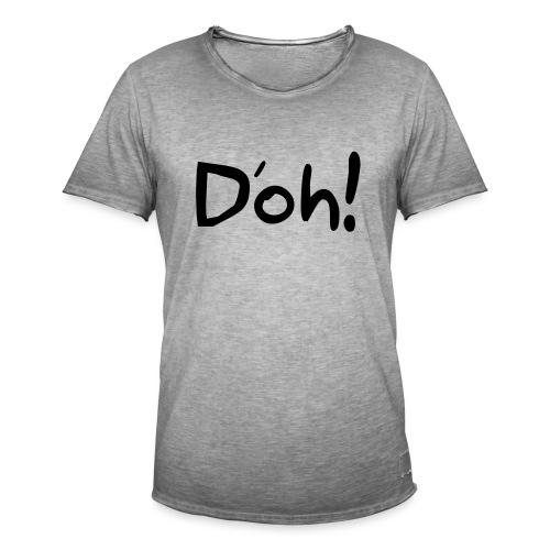 Doh! - Mannen Vintage T-shirt