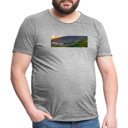 Viernheim von oben - Männer Vintage T-Shirt