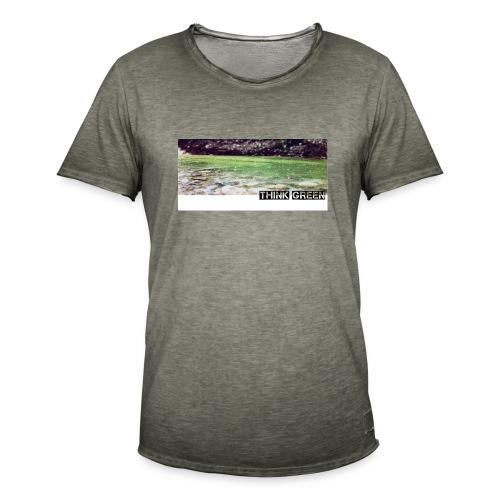 Think green - Männer Vintage T-Shirt