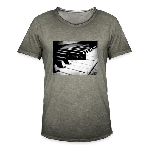 Piano black&White - Maglietta vintage da uomo