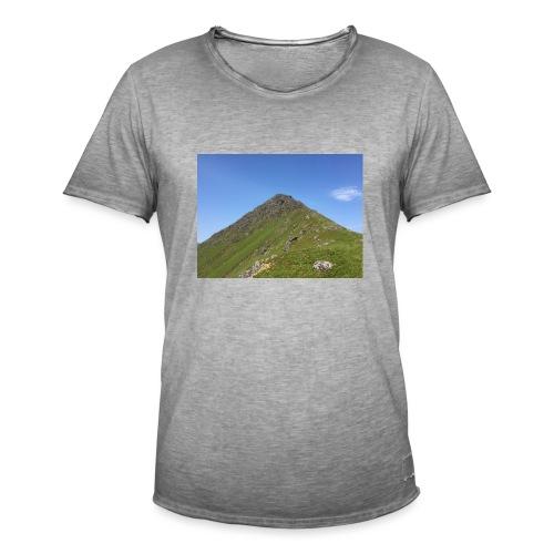 Fjell - Vintage-T-skjorte for menn