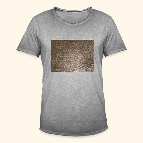 Gold Glitzer als Geschenkidee - Männer Vintage T-Shirt