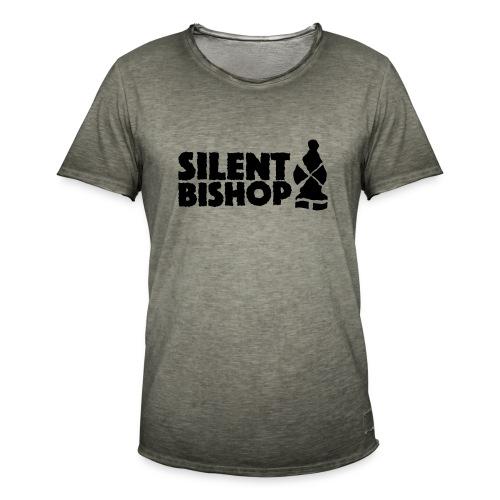 Silent Bishop Logo Groot - Mannen Vintage T-shirt
