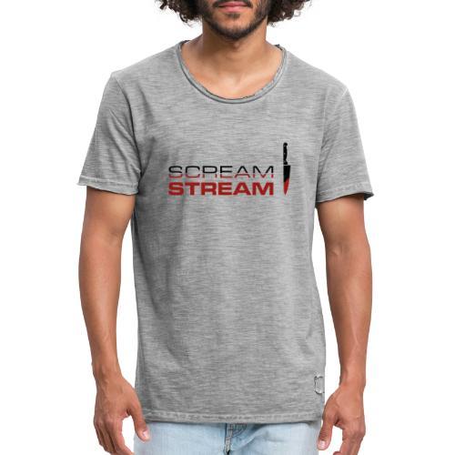 Scream Stream Logo - Men's Vintage T-Shirt