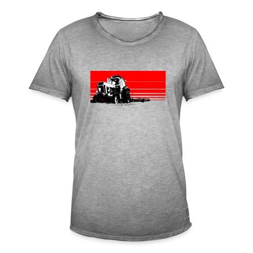 Sunset tractor - Maglietta vintage da uomo