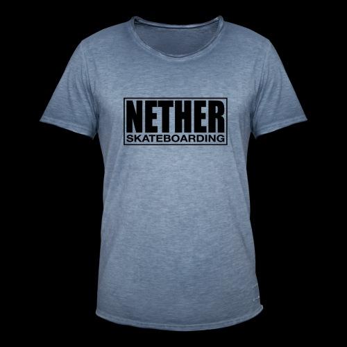 Nether Skateboarding T-shirt Black - Maglietta vintage da uomo