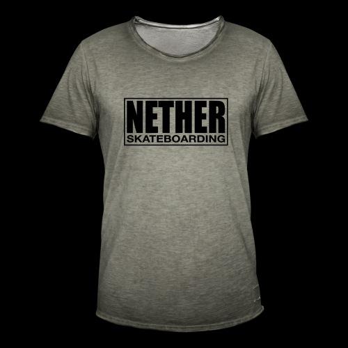 Nether Skateboarding T-shirt White - Maglietta vintage da uomo