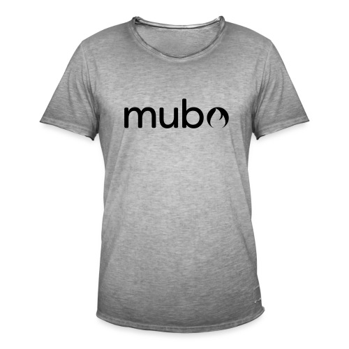 mubo Logo Word Black - Men's Vintage T-Shirt
