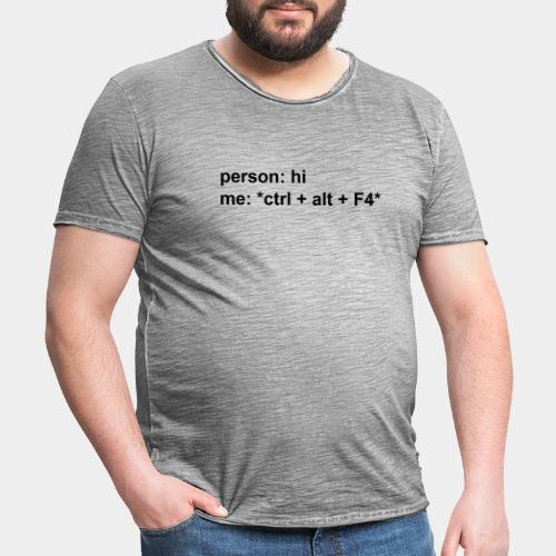 Closed Conversation Black - Men's Vintage T-Shirt