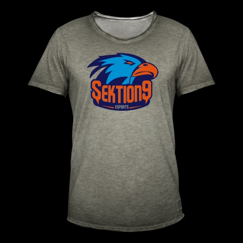 Orange/Blau - Männer Vintage T-Shirt