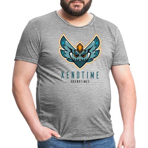 Logo + Texte + Tag + Bleu - T-shirt vintage Homme