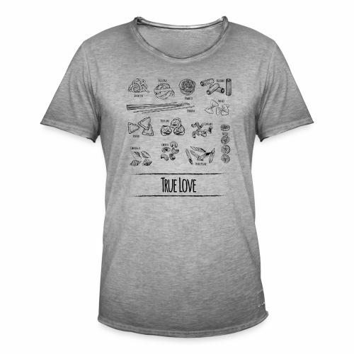 Pasta - My True Love - Männer Vintage T-Shirt