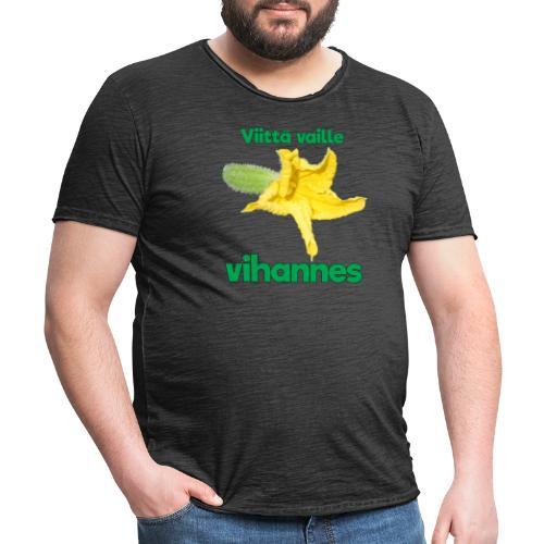 Viittä vaille vihannes, avomaankurkku - Miesten vintage t-paita