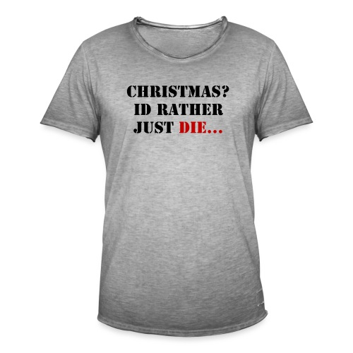 Christmas joy - Men's Vintage T-Shirt