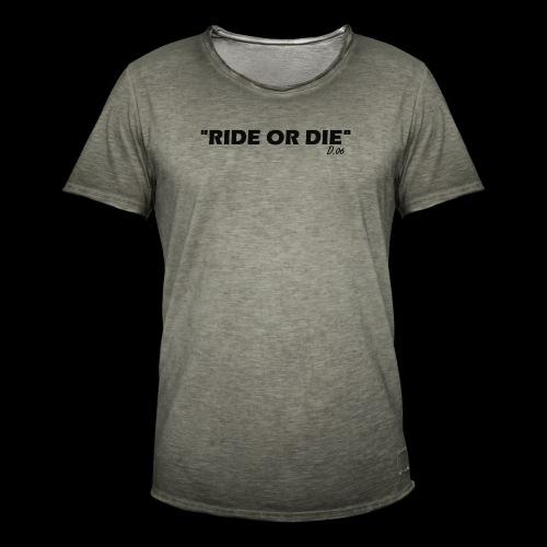 Ride or die (noir) - T-shirt vintage Homme
