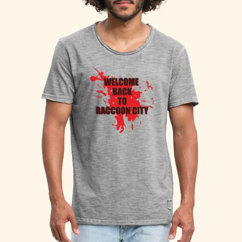Welcome Back to Raccoon City TEXT 01 - Men's Vintage T-Shirt