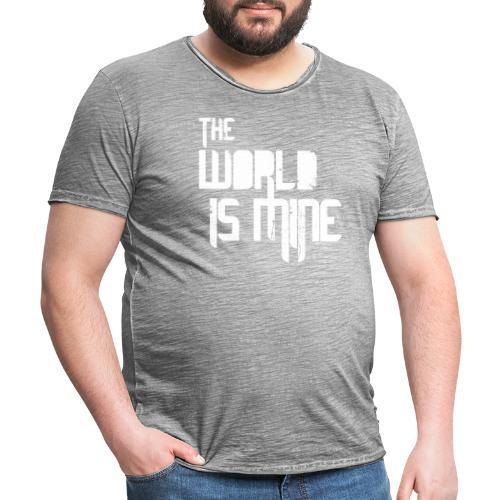 T-shirt THE WORLD IS MINE - Koszulka męska vintage