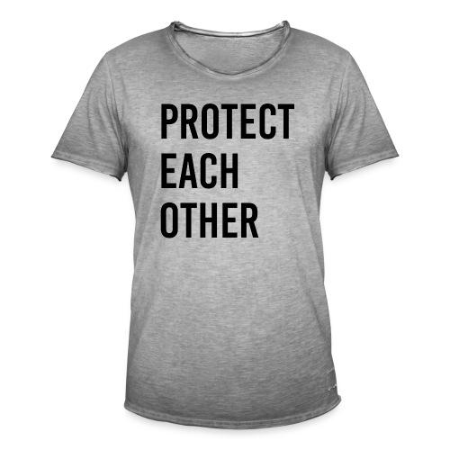 protect each other - Corona Mask - Männer Vintage T-Shirt