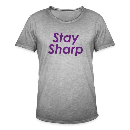 Stay Sharp - Maglietta vintage da uomo