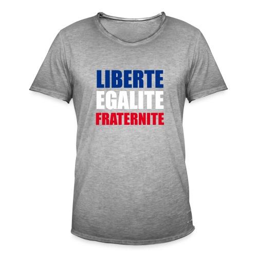 Liberté, Egalité, Fraternité, Bleu, Blanc, Rouge - T-shirt vintage Homme