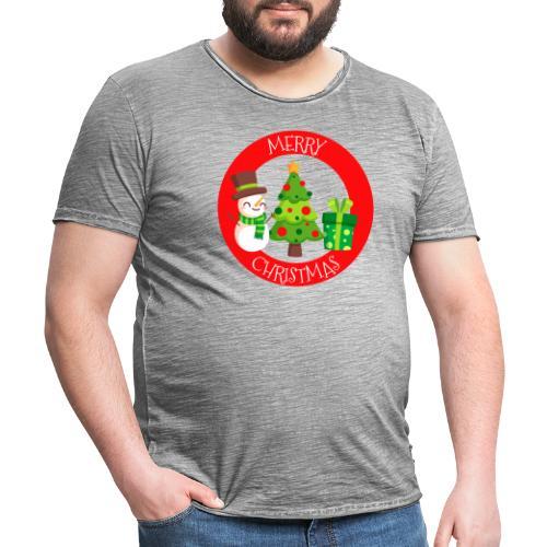 merry christmas 01 - Camiseta vintage hombre
