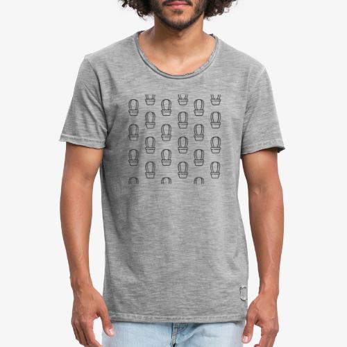kaktus2 - Koszulka męska vintage