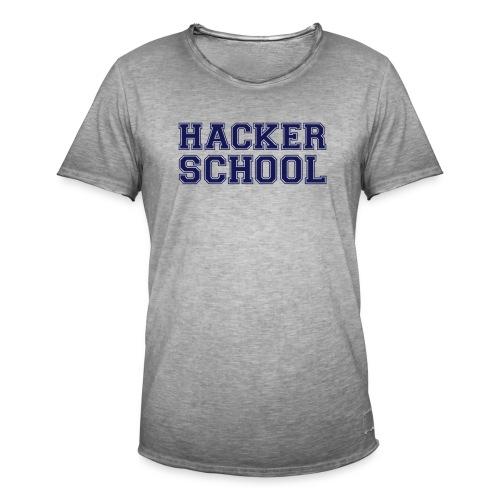 Hacker School ohne Pixel - Männer Vintage T-Shirt