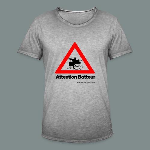 Attention batteur - T-shirt vintage Homme