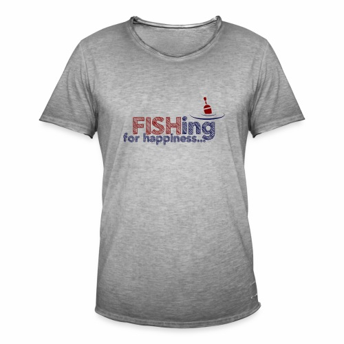 Fishing For Happiness - Men's Vintage T-Shirt