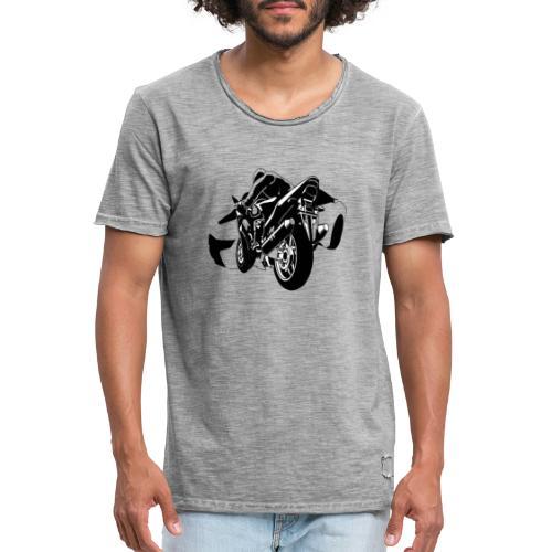 moto con carro - Camiseta vintage hombre