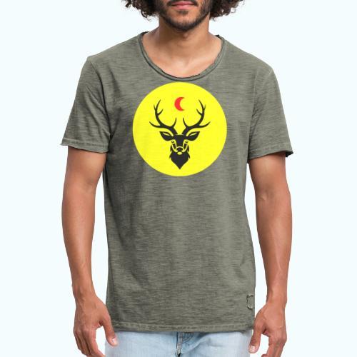 Hipster deer - Men's Vintage T-Shirt