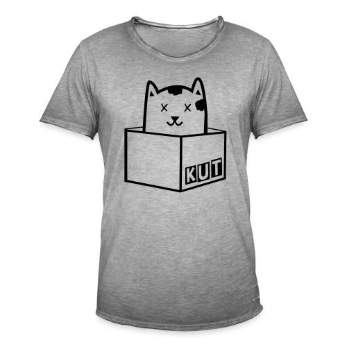 Black Vector Kitten Under Tire Records - Mannen Vintage T-shirt
