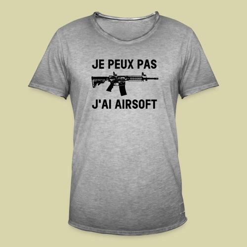 Je peux pas j'ai airsoft - T-shirt vintage Homme
