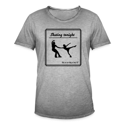 Skating tonight - Miesten vintage t-paita