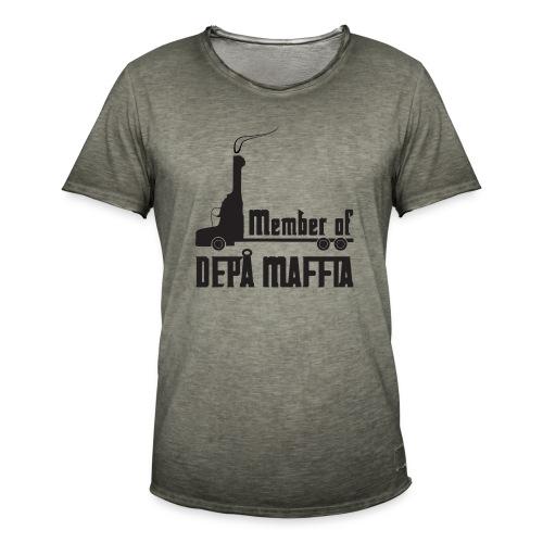 Depå Maffia svart tryck - Vintage-T-shirt herr