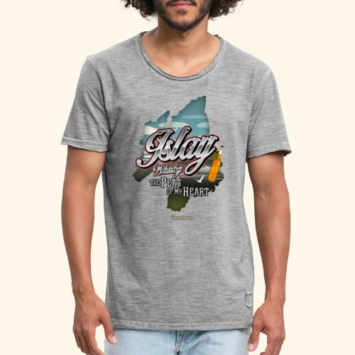 Whisky from Islay Peat of my Heart Tattoo Style - Männer Vintage T-Shirt