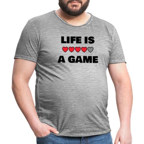 life is a game, black print - Vintage-T-shirt herr