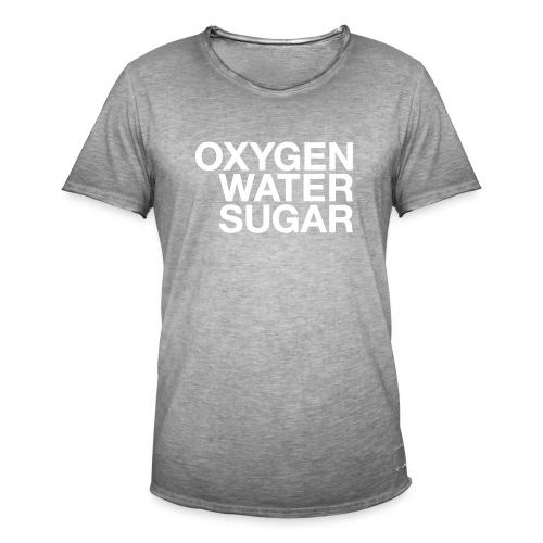 Oxygen water sugar - Herre vintage T-shirt