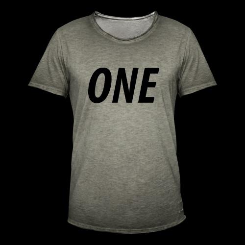 WEAREONE x LETTERS - Mannen Vintage T-shirt